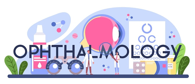 Ophthalmology typographic header.