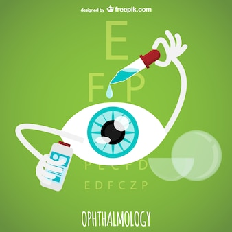 Ophthalmology vector