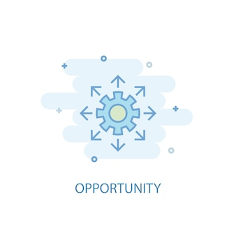 Opportunity line concept. simple line icon, colored illustration. opportunity symbol flat design. can be used for ui/ux