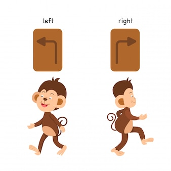 Opposite left and right vector illustration