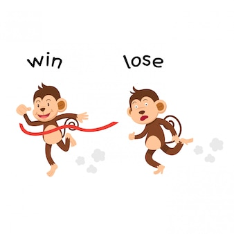 Opposite win and lose vector illustration