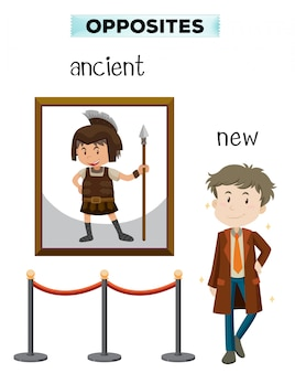 Opposite word of ancient new