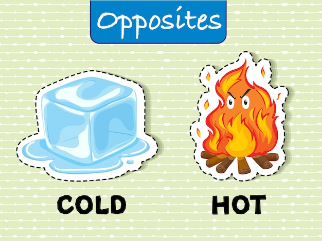 Opposite words for cold and hot