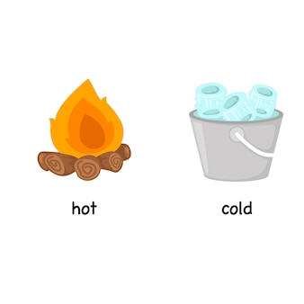 火で暑くて寒い反対の言葉