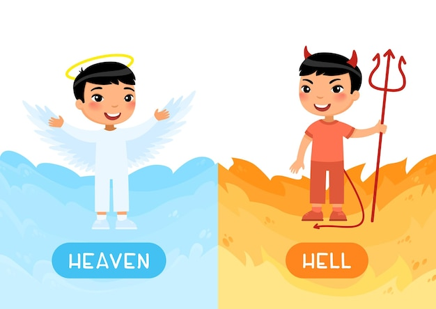 Opposites concept heaven and hell