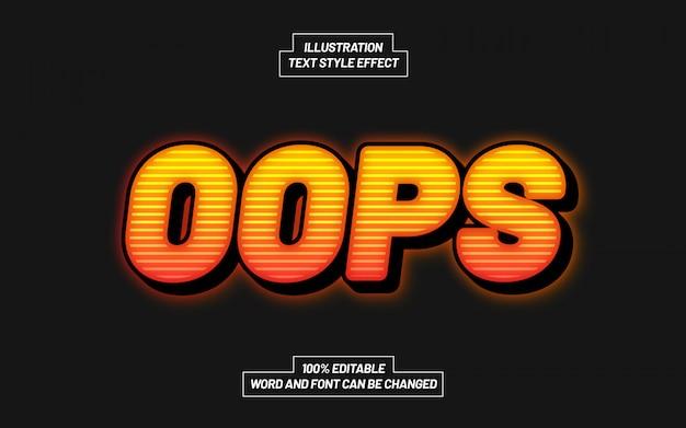 Эффект стиля текста opps
