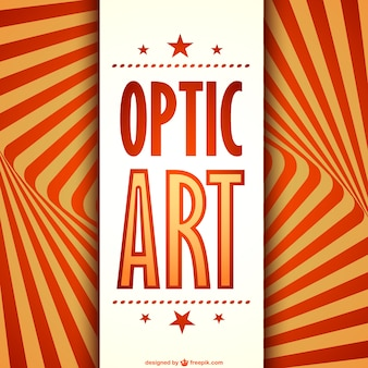 Optic art card