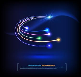 Optical fibers communication concept