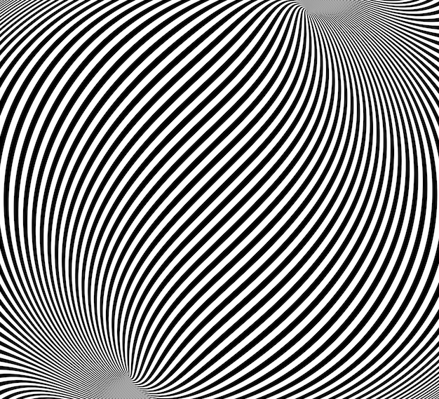 Optical illusion, abstract twisted background