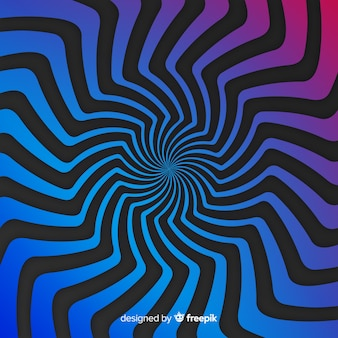 Optical illusion background flat style