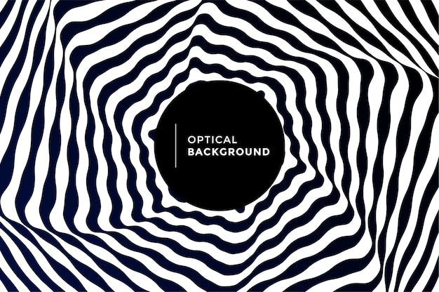 Optical illusion background vector