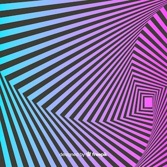 Optical illusion effect background
