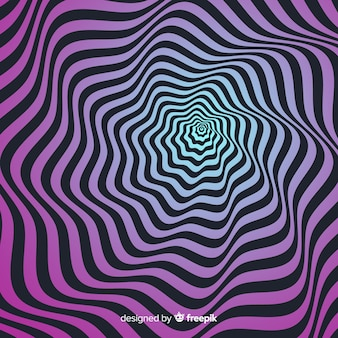 Optical illusion effect background