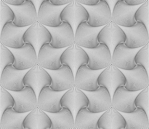 Optical illusion lines pattern