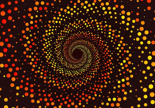 착시 나선형 점선 배경 기하학적 그라데이션 원활한 패턴