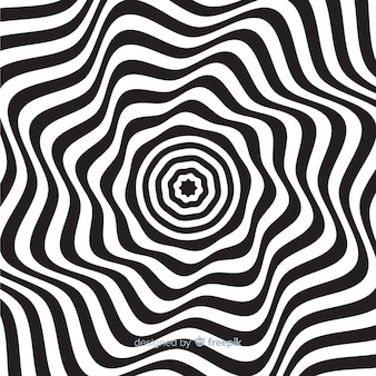 Optical illusion wavy flat background