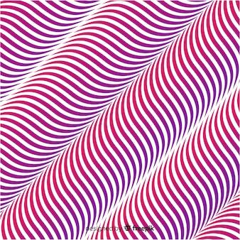 Optical illusion wavy flat background