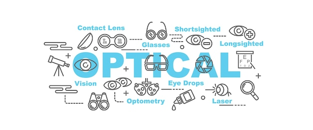Optical vector banner