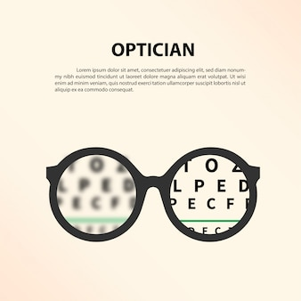 Optician concept.