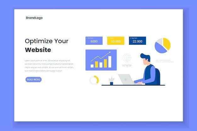Optimize site illustration landing page