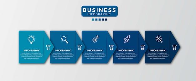 Option number 5 infographic design