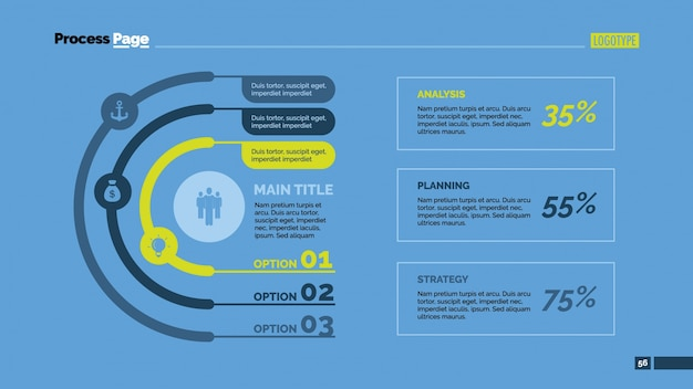 옵션 및 통계 인포 그래픽 디자인
