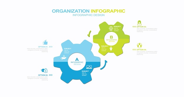 Options around main point slide template stock illustration diagram infographic circle