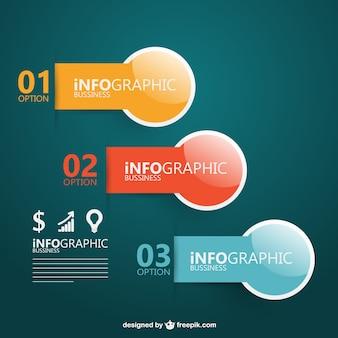 Options infographic design