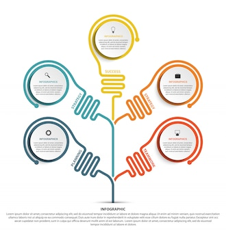 Options infographic template for business presentations