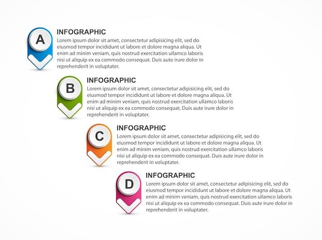 オプションのインフォグラフィック、タイムライン、ビジネスプレゼンテーションのデザインテンプレート。