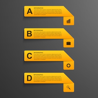 Options infographics modern style.