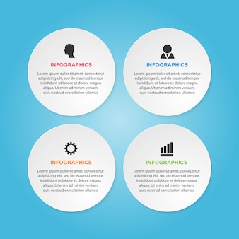 Options infographics template