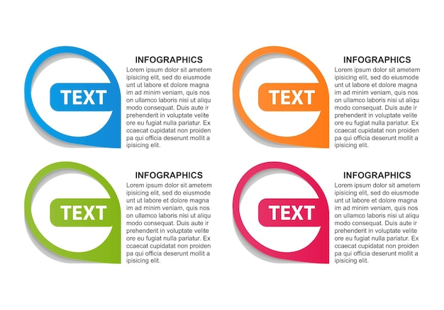 Options infographics template.