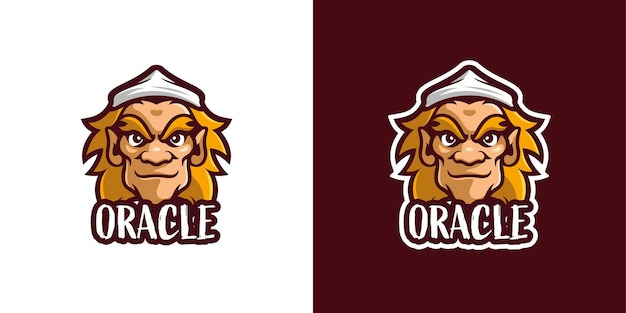 Oracle monster mascot character logo template