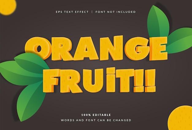 오렌지 과일 텍스트 효과