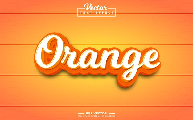 Оранжевый 3d редактируемый текстовый эффект