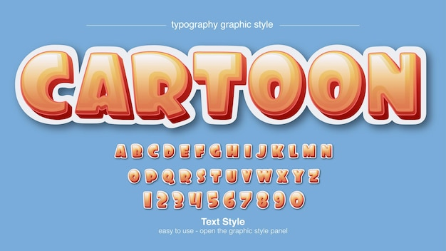 Orange 3d modern rounded typography