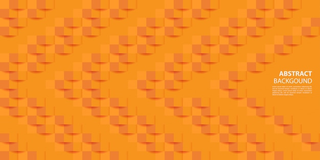 Orange 3d paper style background