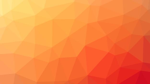 오렌지 추상적 인 기하학적 낮은 폴리 삼각형 모양 패턴