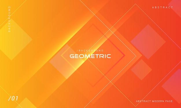 Orange abstract geometric shape background