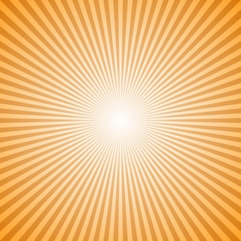 Orange abstract geometrical sunray background