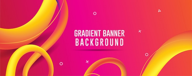 Orange abstract gradient background banner, fluid abstract backgrouds