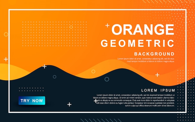 Orange abstract  liquid background