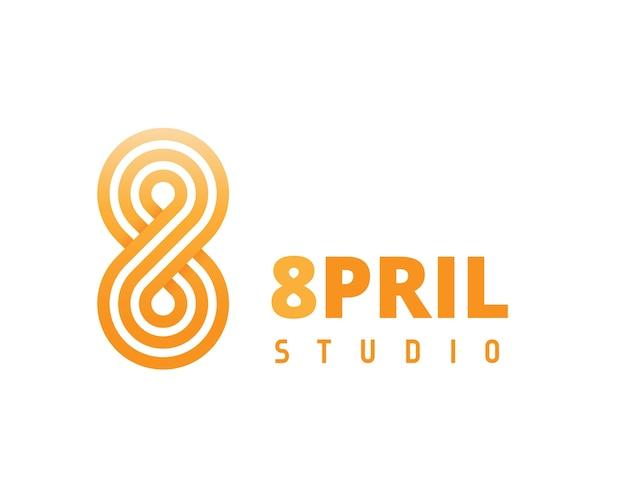 Orange abstract logo in modern design