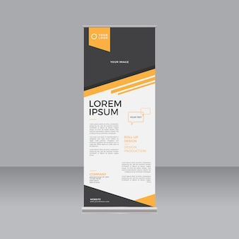 Orange abstract stand banner template