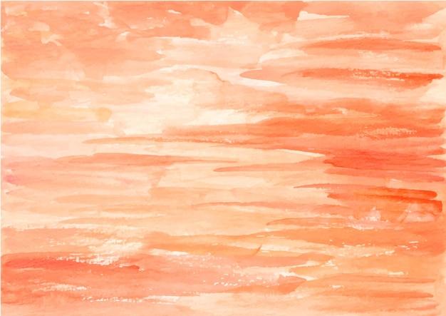 水彩でオレンジ色の抽象的なテクスチャ背景