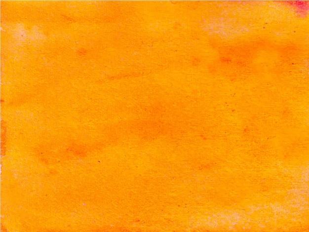 オレンジ色の抽象的な水彩画