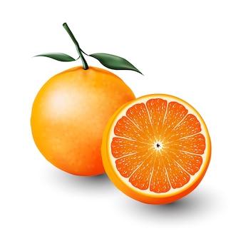 Orange and a half of orange