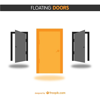 Orange and black doors