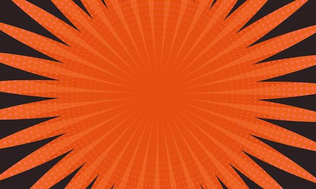 オレンジと黒の線とハーフトーンの背景。あなたのビジネスに最適なラインデザイン。